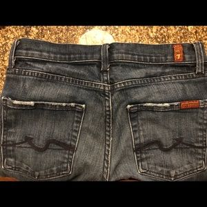 7 for all mankind jeans 26 high waist bootcut